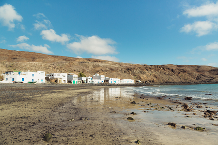 An old fishing village named Pozo Negro on Fuerteventura, Spain Imagens