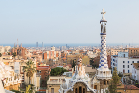Barcelona cityscape seen from park Guell