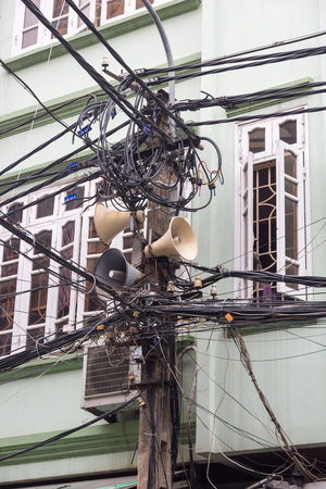 Open and unordered  telecommunications and cable harness in Hanoi, Vietnam