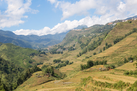 Landscape of Sapa valley in Vietnam