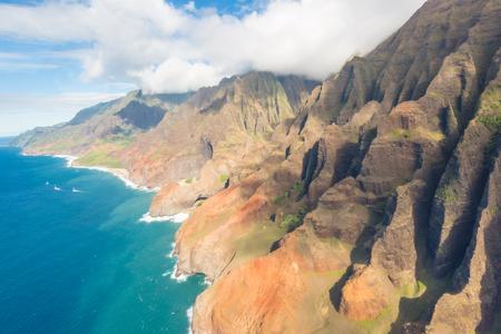 Napali coast of Kauai (Hawaii) seen from above
