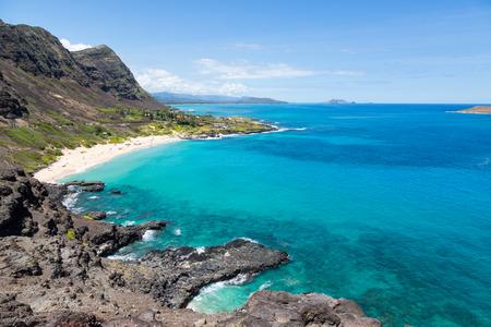 Makapuu lookout on Oahu, Hawaii, USA Imagens - 90266499