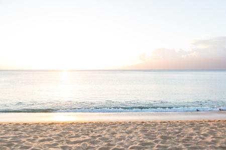 Beach in Napili Bay on Maui, Hawaii Imagens - 90469849
