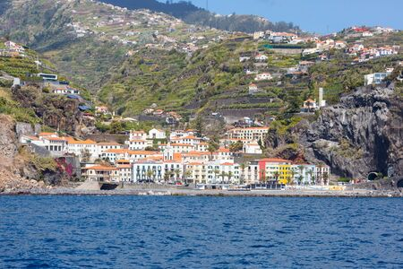 Village Ponta do Sol on the island Madeira (Portugal) seen from the sea