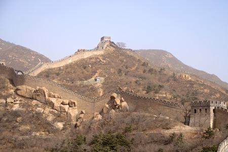 The Great Wall Of China Along A Mountain Ridge