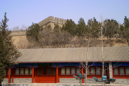 A Traditional Chinese Building Outside The Great Wall of China
