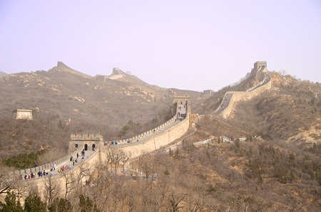 The Great Wall Of China Against A Purple Sky