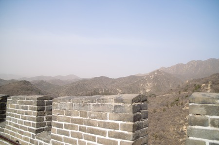 Mountain View From The Great Wall Of China Banco de Imagens