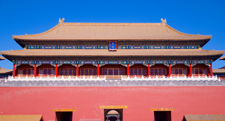 The Upright Gate Leading From Tiananmen Square Into The Forbidden City In Beijing, China