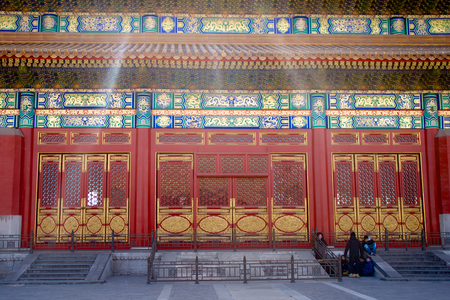great hall: Entrance To A Great Hall In The Forbidden City In Beijing, China