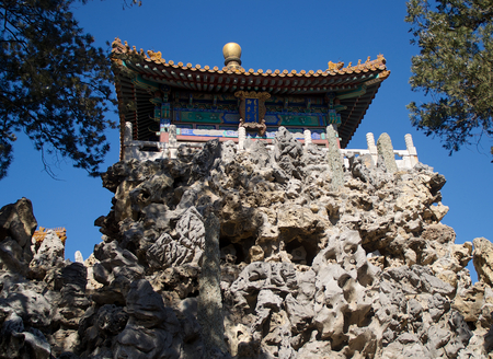The Pavilion Of Imperial Scenery Atop The Hill Of Accumulated Elegance In The Forbidden City In Beijing, China
