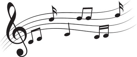 Notes musicales clef triple