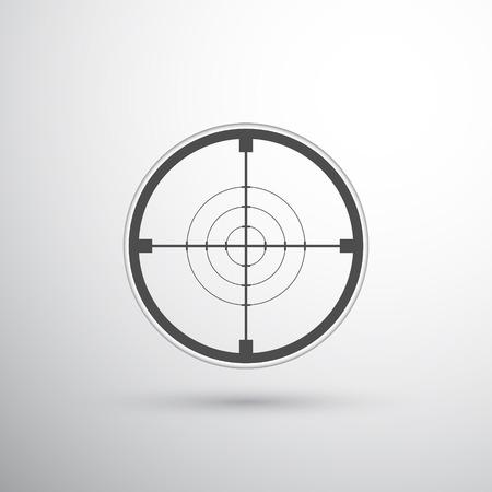 Sniper scope target vector Vetores