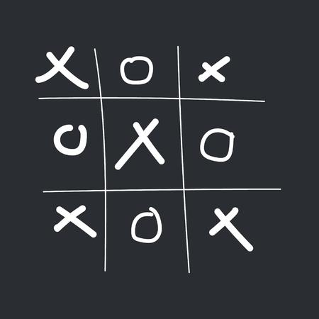 Tic tac toe game vector