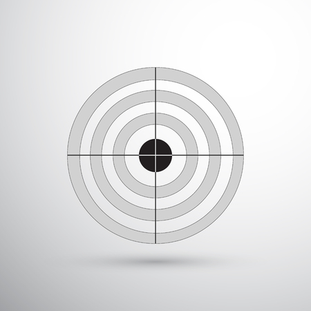 dart board: Shooter target with seven circles. Dark grey