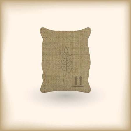 wheat textile full sack with shadow