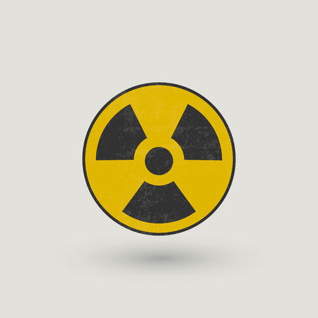 radioactive symbol grunge, black and yellow