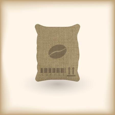 coffee sack with coffee bean