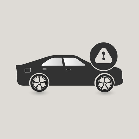 Car Caution icon, check vehickle Stock Photo