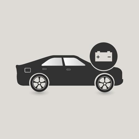 Dark Grey Car Battery Service Icon