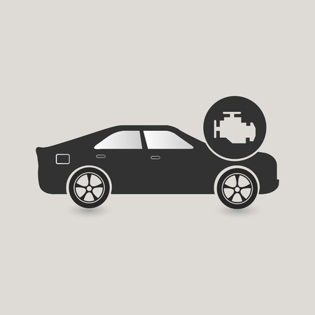 checking: Car check icon, maintenance, needs to be fixed
