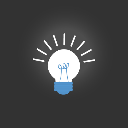 Light bulb icon isolated on black background idea sign solution thinking concept