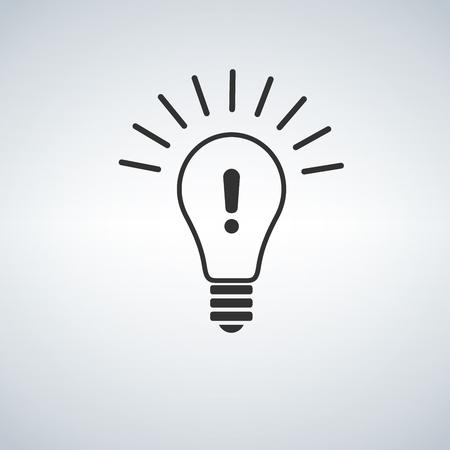 Warning light bulb illustration design over a white background 일러스트