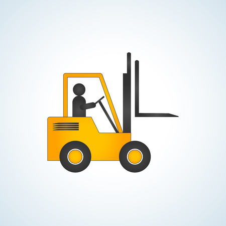 Forklift truck with no load