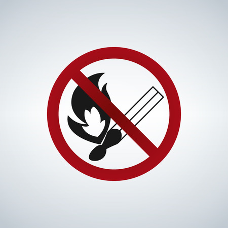 no open flame, no fire sign