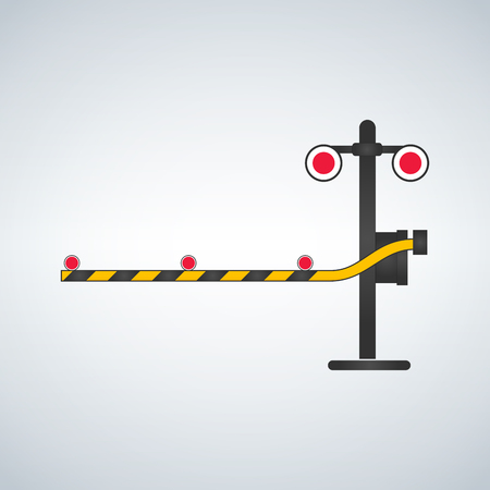 Railway traffic signal illustration.