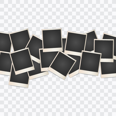 Photo frame Collage on a transparent background. Vector Illustration  イラスト・ベクター素材