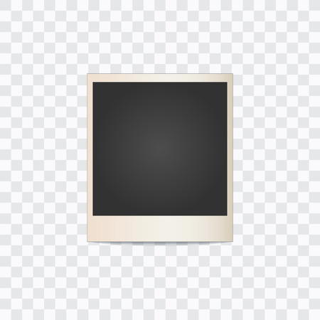photo frame on a transparent background. Vector illustration