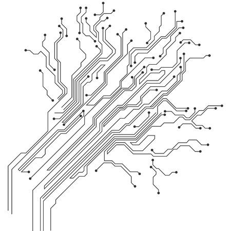 Ikona obwodu drukowanego. Ilustracje wektorowe