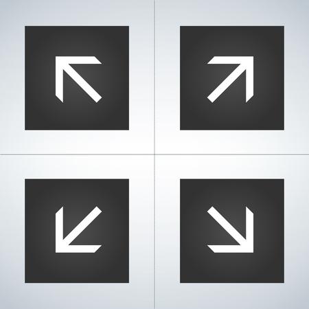 4 Arrow Icons. Arrow Signs Vector illustration