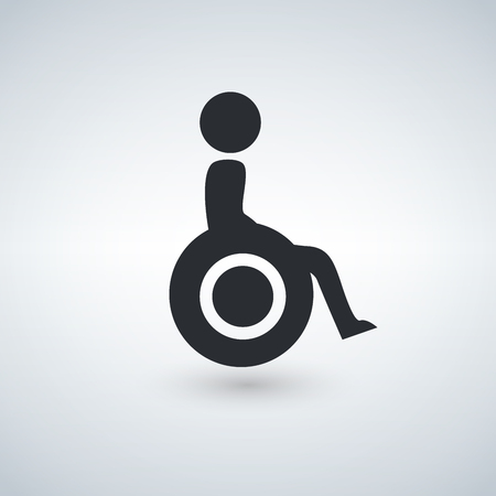 Disabled Handicap Icon Vector illustration.