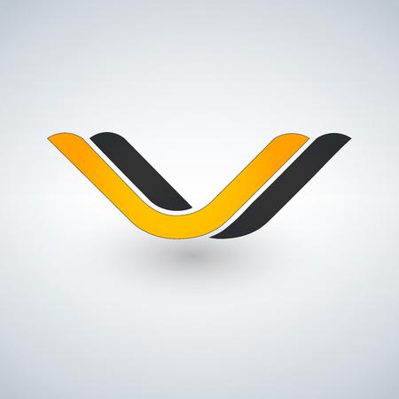 V Letter wave Logo Template vector illustration design