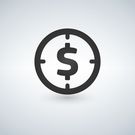 Target money icon. 일러스트