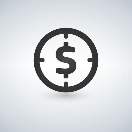 Target money icon. Illustration