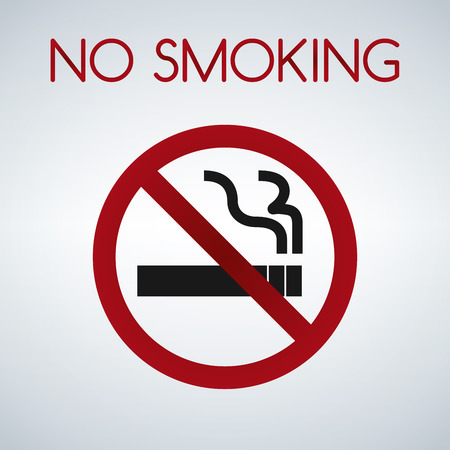 No smoking sign isolated vector on white background.