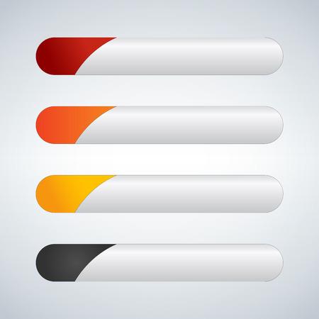 Web Elements Vector Button Set, vector illustration isolated on light background. Illustration