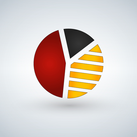 Pie Chart Icon in trendy flat style isolated on light background. Graph symbol for your web site design, logo, app, UI. Vector illustration.