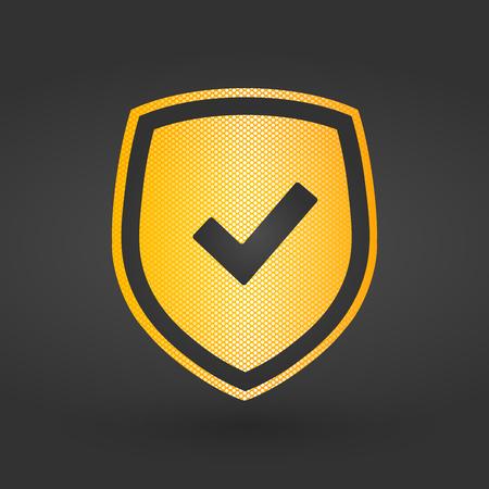Checkmark Shield sign, vector illustration