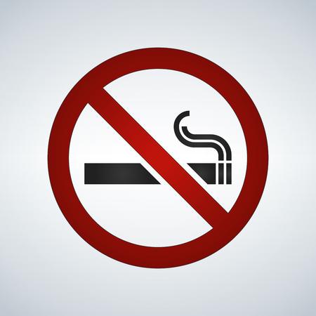 No smoking sign isolated on white background Illustration