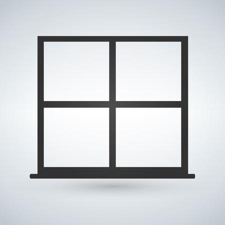 Window icon. Vector window illustration Illustration