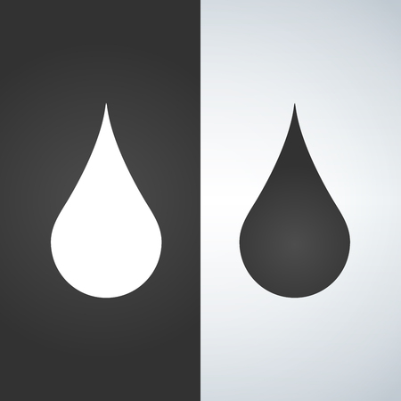 Water drop - Vector icon. black and white.