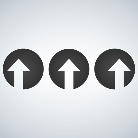 Up left and right arrows cut in circles.