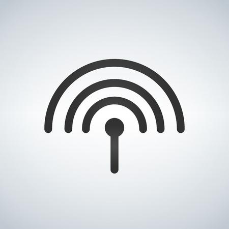 Antenna icon, vector illustration isolated on White background. Illustration
