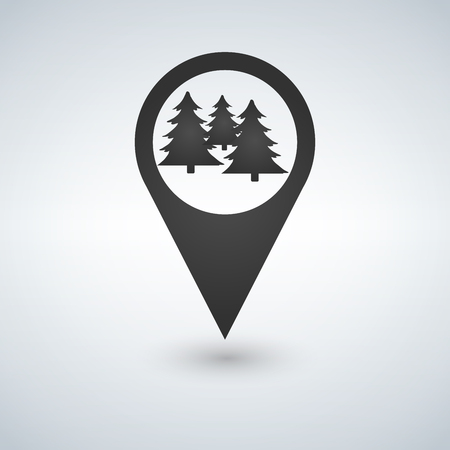 Forest location icon. Vector isolated illustration.