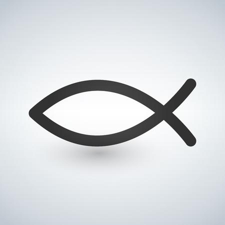 Jesus Fish Icon . Vector illustration