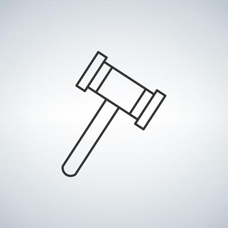 Judge or auction hummer. Flat style icon. Vector illustration Vektorgrafik